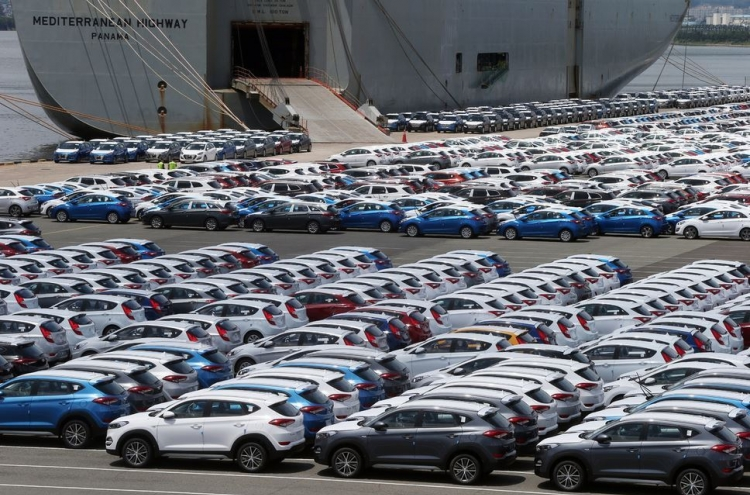 S. Korea's vehicle exports fall 4.8% in September