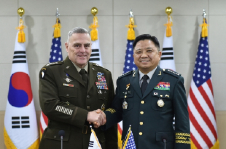 South Korea, US top military commanders discuss GSOMIA, OPCON transfer