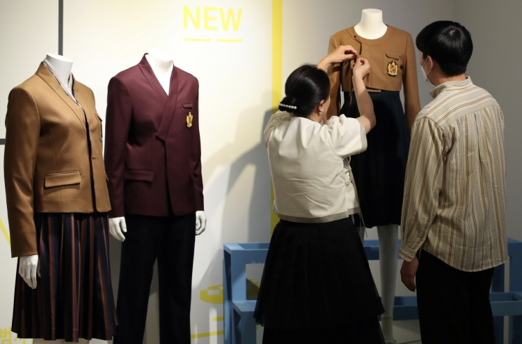 [Photo News] Hanbok-inspired school uniforms on display