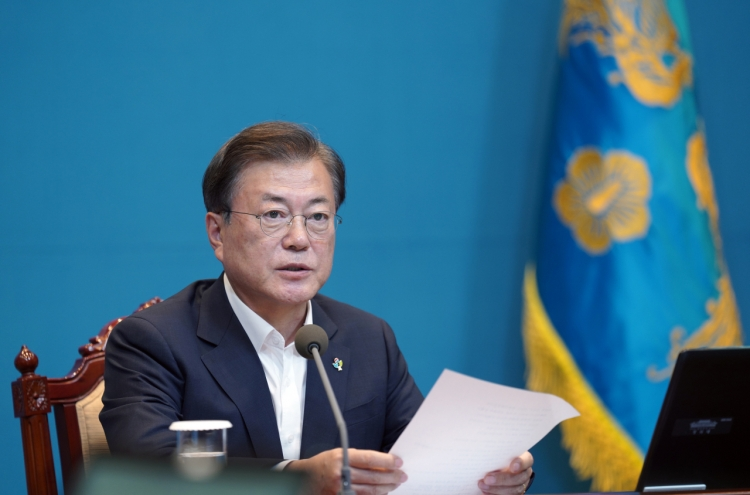 Moon names spy chief as top adviser, reshuffles security ranks
