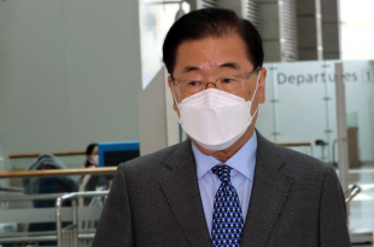 Will FM Chung meet with Japan's Motegi at G-7 in London?