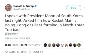 Misinterpreted Trump tweet causes online chaos amid NK tensions