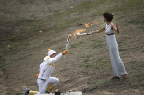 Olympic flame for PyeongChang 2018 lit in Greece