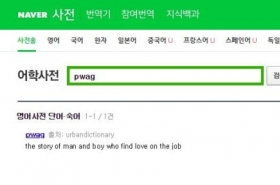 Pwag, zoobs? Naver's English dictionary contains nonsense, questionable definitions