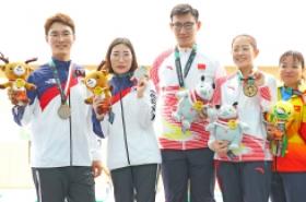 S. Korean mixed shooting team wins silver