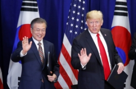 Leaders of S. Korea, US welcome revision to bilateral FTA