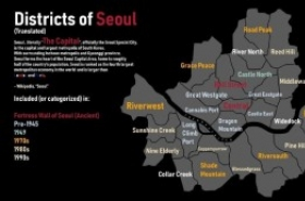 'Cannabis Port': Reddit user's Seoul map shows districts in colorful English names