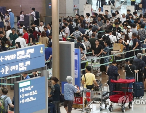 Japan-bound trips dip in Aug., demand for other regions shoots up