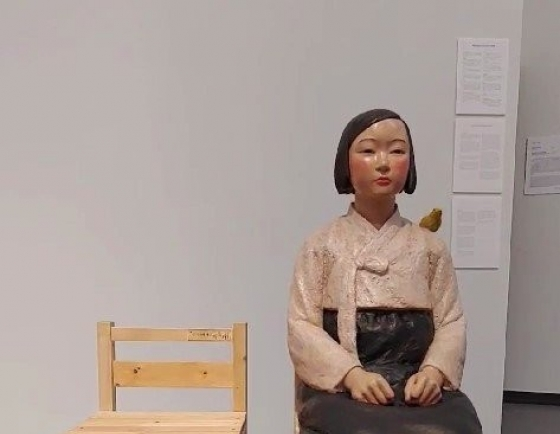 Statue symbolizing former wartime sex slave returns to Japanese art show