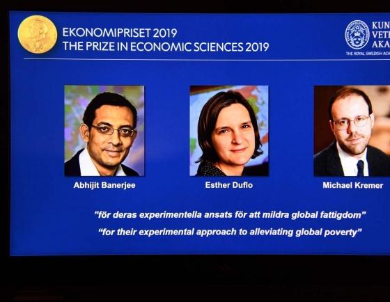 US trio win Nobel Economics Prize for work on poverty