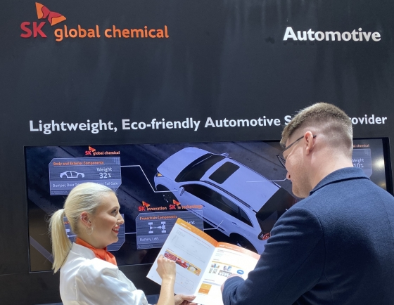 SK Global Chemical showcases eco-friendly materials at K Show 2019