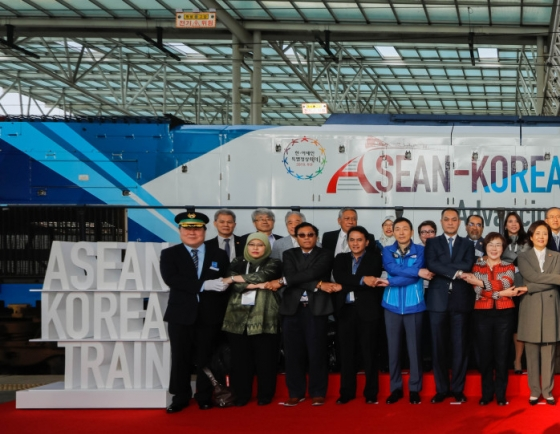 [ASEAN-Korea summit] ASEAN-Korea Train Launch