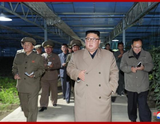 North Korean leader visits farm, calls for stable food supply