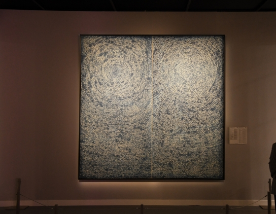 Kim Whan-ki's blue dot painting sets record for Korean painters