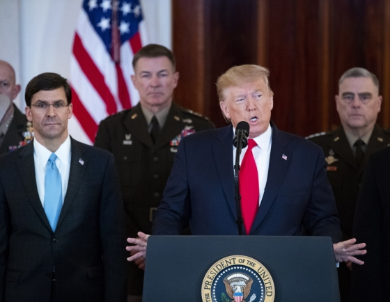 Trump pulls back from war with Iran