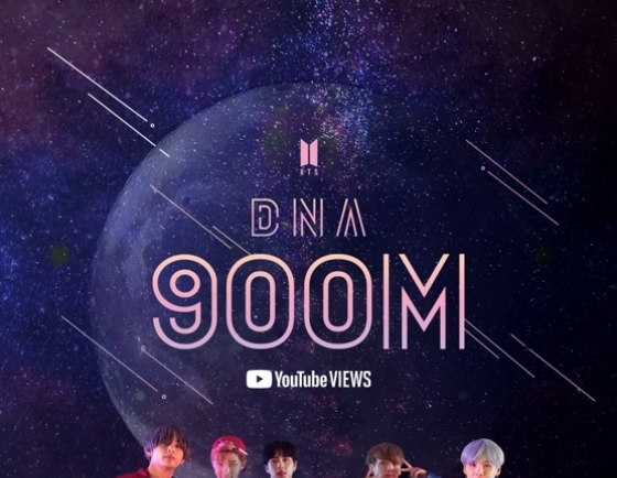 BTS' 'DNA' music video tops 900m YouTube views