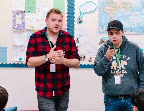 British rap duo help students unlock inner creativity