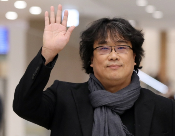 Oscar-winning director Bong Joon-ho returns home to hero's welcome
