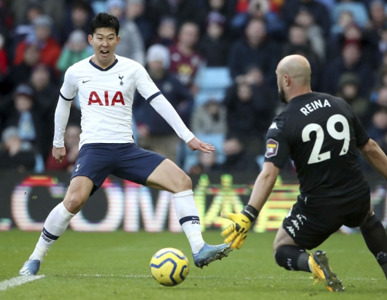 Son strikes late to edge Spurs past Villa in five-goal thriller