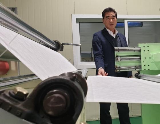 [인터뷰] 신종코로나로 마스크용 부직포 생산라인 풀가동
