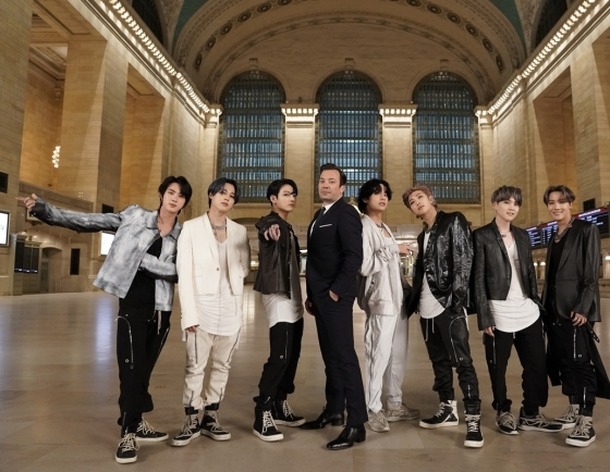 BTS rocks New York's Grand Central with debut performance of 'ON'