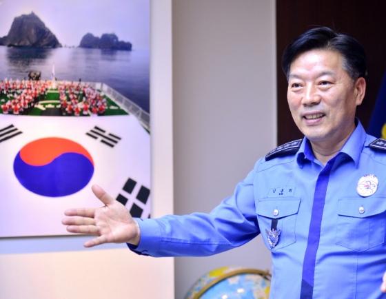 [Herald Interview] New head Kim pledges trustworthy, futuristic Korea Coast Guard