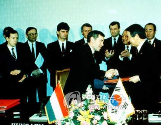 S. Korea provided $125m in loans to Hungary in 1989 for diplomatic relations