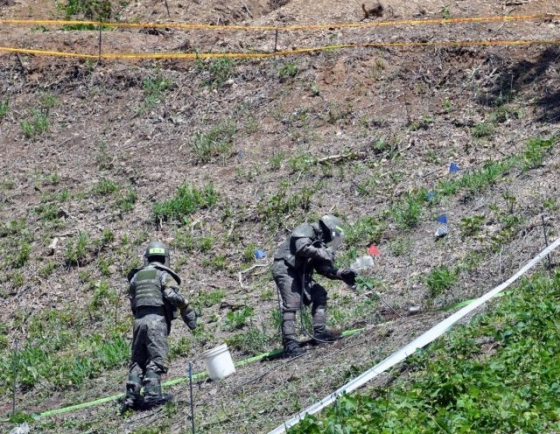 Military launches land mine removal mission in rear area