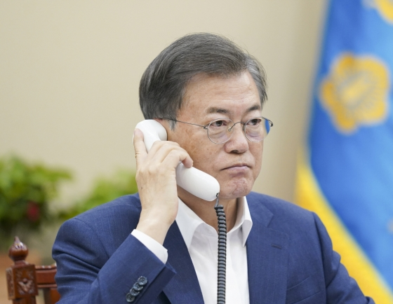 Moon's 'telephone diplomacy' continues in wake of pandemic