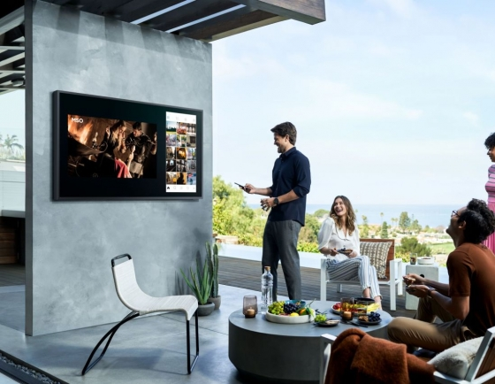 Samsung unveils first outdoor QLED 4K TV The Terrace