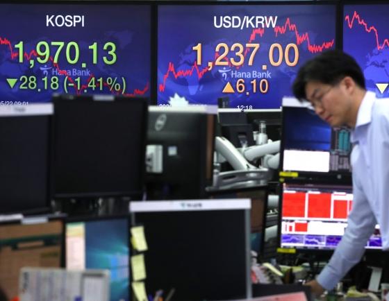 Seoul stocks snap 5-day winning streak on US-Sino dispute