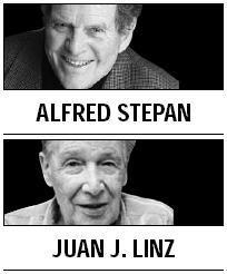 [Alfred Stepan and Juan J. Linz]  Egypt government needs a Pharoah?