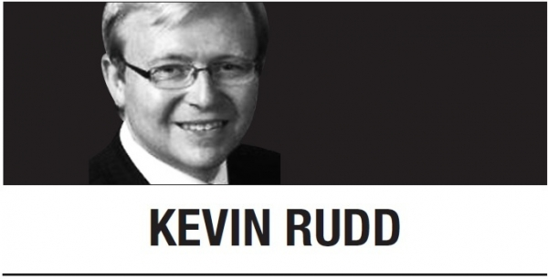 [Kevin Rudd] COVID-19 trumps nationalism
