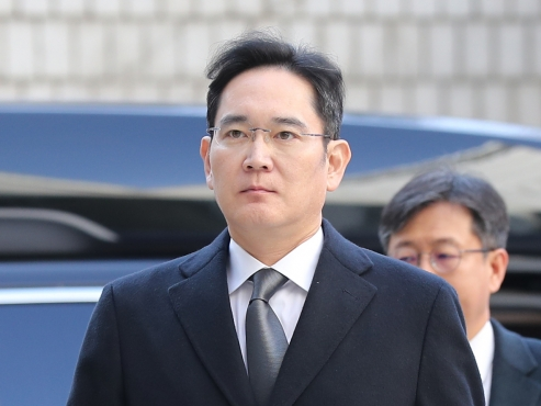 Samsung de facto leader Lee Jae-yong attends fourth hearing of retrial