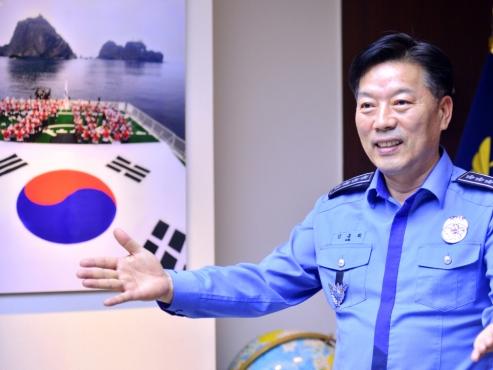 New head Kim pledges trustworthy, futuristic Korea Coast Guard