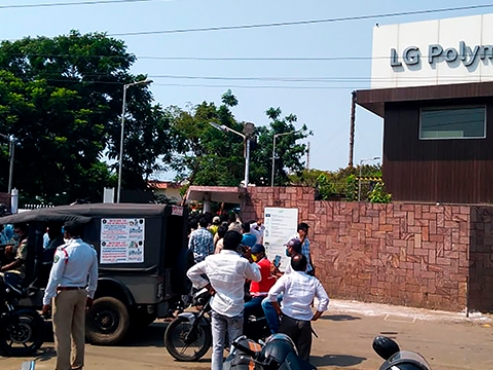 Indian police stop LG Chem employees from going home despite flight approval