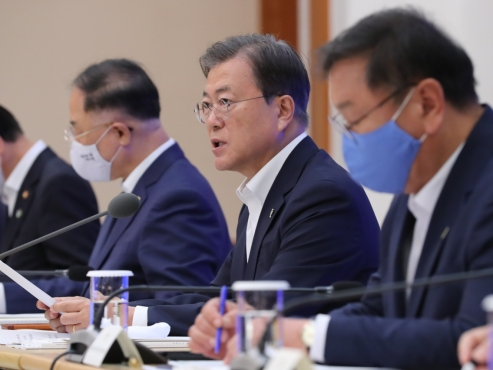 Moon urges National Assembly to swiftly pass 3rd supplementary budget