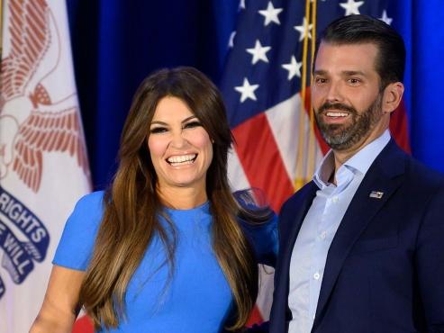 Girlfriend of Trump's eldest son tests positive