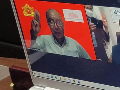 Church group leader prays for democracy in talks to Myanmar NUG prime minister