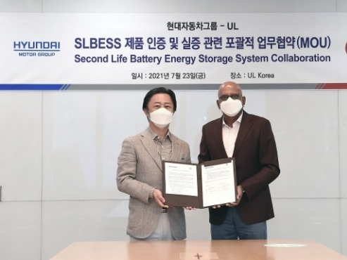 Hyundai Motor to improve safety of second life battery energy storage system