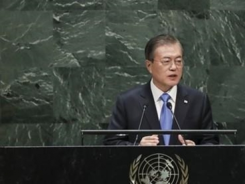 Moon in New York for UN speech during Chuseok holiday in Korea