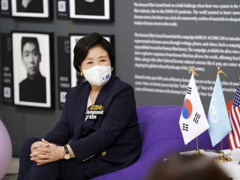 S. Korea's first lady holds talk session with young Korean Americans