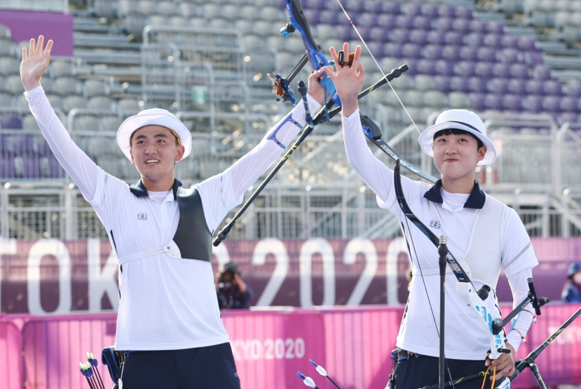 S. Korea captures inaugural gold in archery mixed team event