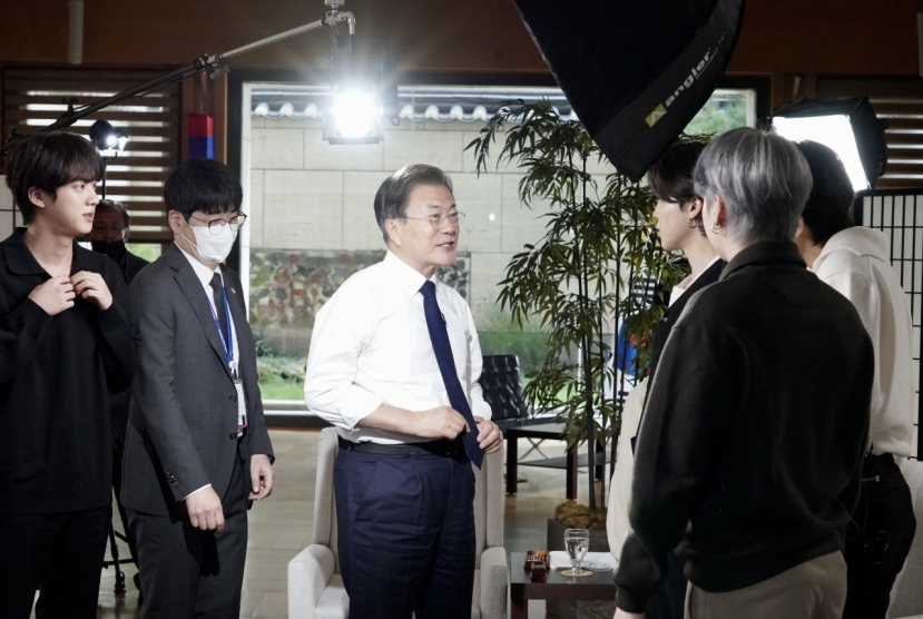 Moon says BTS helped spread awareness of climate change, other global issues