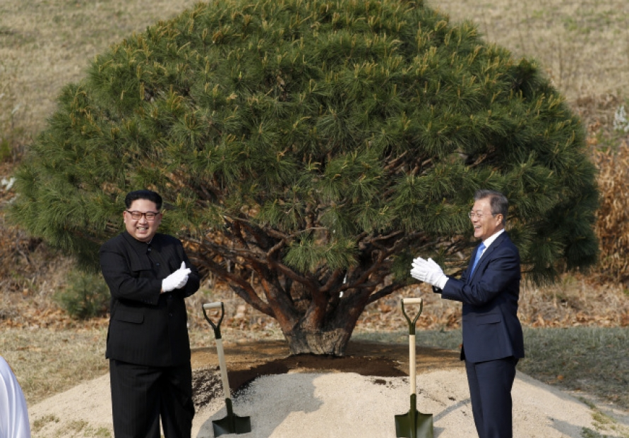 [2018 Inter-Korean summit] Tree-planting, other events add sentiment to summit