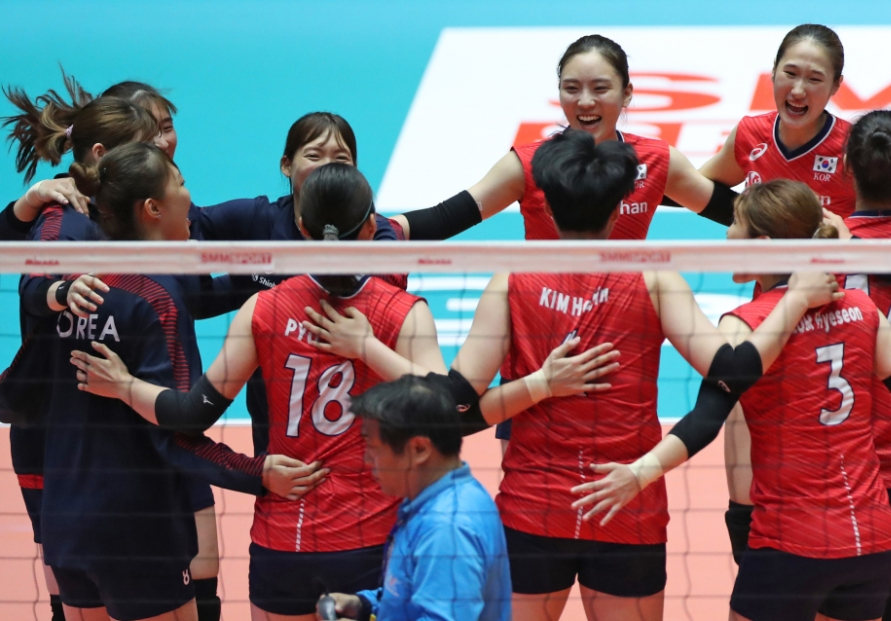 S. Korea beats Thailand at continental volleyball tournament, avenges Asian Games loss
