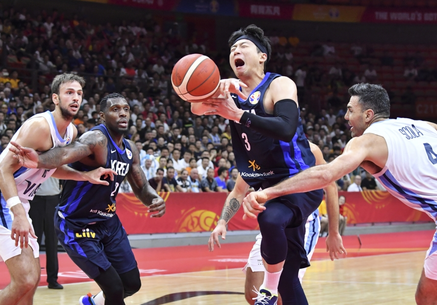S. Korea routed by Argentina to open FIBA Basketball World Cup