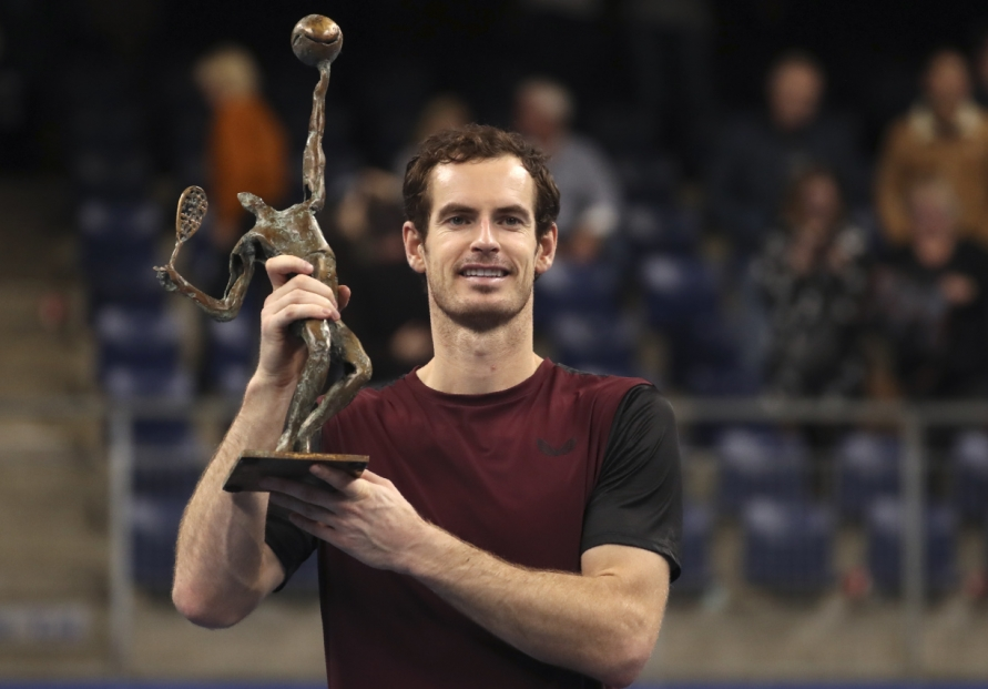 Tearful Murray wins at Antwerp for first ATP title since March 2017