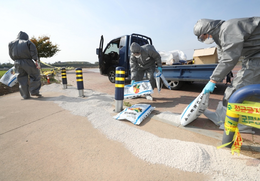 [Photo News] Bird flu quarantine operations