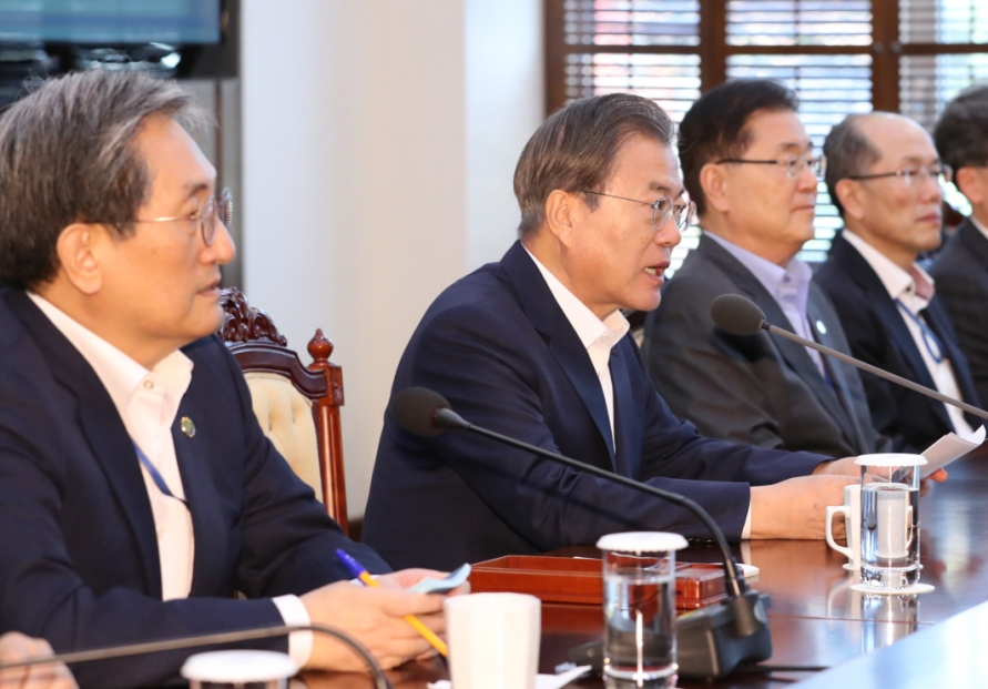 Moon vows unswayed push for peace, innovation, fairness in remaining presidency